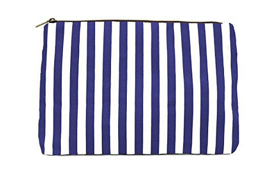 Lulu Dharma Stripped Cosmetic Bag